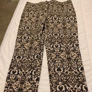 Snake skin patterned pixie pants. Softest ever!